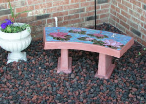 Waterlily Garden Bench